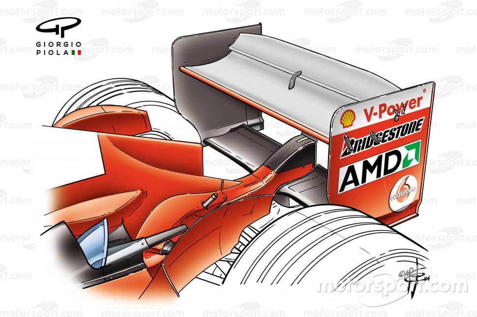 Ferrari F2004, ala posteriore