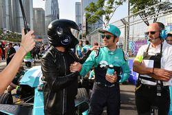 Luca Filippi, NIO Formula E Team, de EJ op de startopstelling
