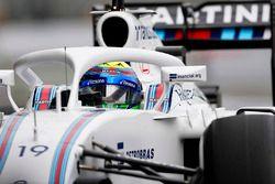 Felipe Massa, Williams FW38 Mercedes, with Halo