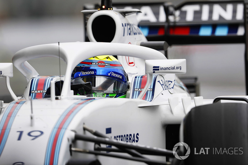 Felipe Massa, Williams FW38 Mercedes, with Halo