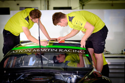 Aston Martin Racing mechanics at work