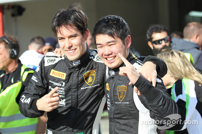 Race winners Raphael Abbate, Yuki Nemoto, VS Racing