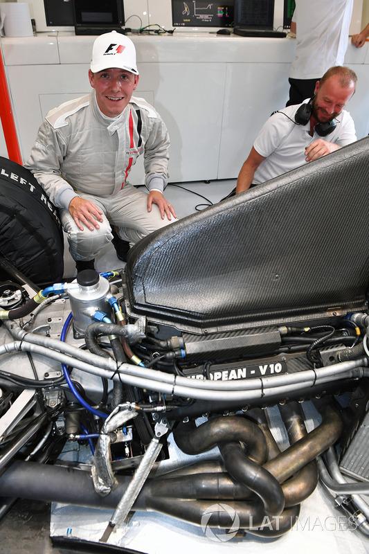 Stuart Codling, giornalista del magazine F1 Racing, biposto F1 Experiences