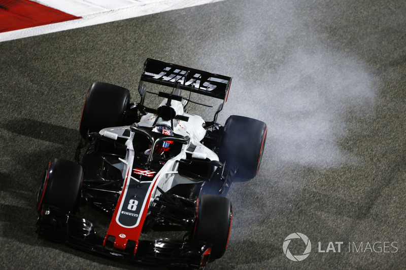 15. Romain Grosjean, Haas F1 Team VF-18 Ferrari