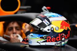 Le casque de Daniel Ricciardo, Red Bull Racing RB14