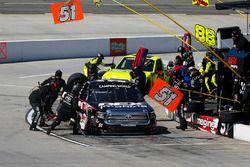 Harrison Burton, Kyle Busch Motorsports, Toyota Tundra DEX Imaging pit stop