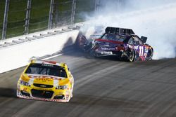 Denny Hamlin, Joe Gibbs Racing Toyota crash
