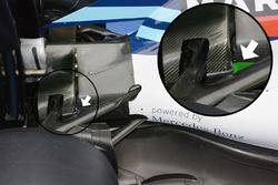 Williams FW38, Heckpartie-Detail