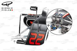 Comparazione tra l'S-duct della McLaren MP4/31 e quello della MP4/30, GP degli Stati Uniti