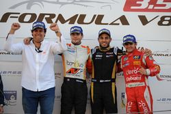 Podium: Race winner and Champion Tom Dillmann, AVF; second place Roy Nissany, Lotus; third place Pie