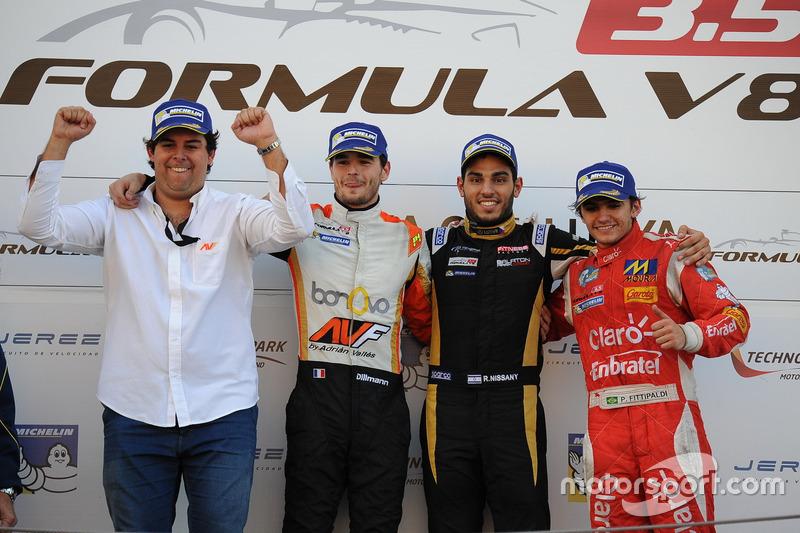 Podio de la carrera del domingo en el Circuit de Catalunya
