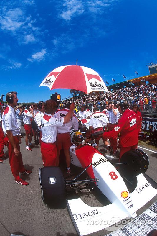 Ayrton Senna, McLaren no grid de largada