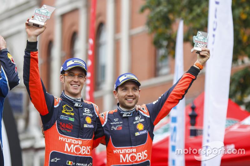 المنصة: المركز الثالث تييري نوفيل ونيكولاس غيلسول، هيونداي آي20 دبليو آر سي، هيونداي موتورسبورت