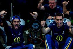 Nicolas Prost, Renault e.Dams und Sébastien Buemi, Renault e.Dams feiern