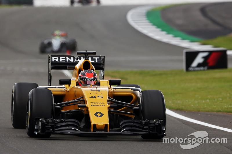 Esteban Ocon, Renault Sport F1 Team R16 Piloto de pruebas, en la PL1 del GP de Gran Bretaña 2016
