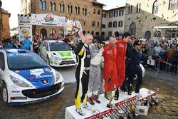 Podio: Federico Della Casa, Domenico Pozzi, Citroen C4 WRC #7, Alessandro Bettega, Paolo Cargnelutti, Peugeot 207 S2000 #19, Andrea Dalmazzini, Giacomo Ciucci, Peugeot 207 S2000 #16