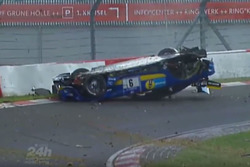 Schreenshot Crash Nico Bastian, AMG Team Black Falcon, Mercedes AMG-GT 3