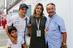 Феліпе Масса, Williams з дружиною Рафаелою Бассі,, та сином Феліпіно,
