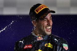 Daniel Ricciardo Red Bull Racing celebrate on the podium