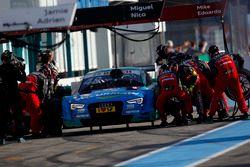 Pit stop Edoardo Mortara, Audi Sport Team Abt Sportsline, Audi RS 5 DTM.