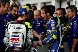 Segundo, Cal Crutchlow, Team LCR Honda, thercero, Valentino Rossi, Yamaha Factory Racing