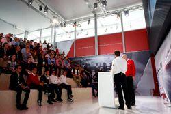 Conferencia de prensa: Dr. Wolfgang Ullrich, jefe de Audi Sport y Alan McNish