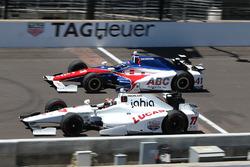 Oriol Servia, Schmidt Peterson Motorsports Honda, Jack Hawksworth, A.J. Foyt Enterprises Honda