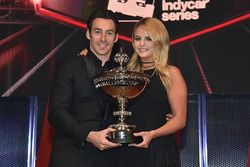 Champion Simon Pagenaud, Team Penske Chevrolet with girlfriend Hailey