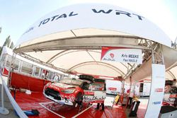 Service-Bereich vom Citroën World Rally Team