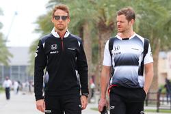 Jenson Button, McLaren avec Mike Collier, coach personnel