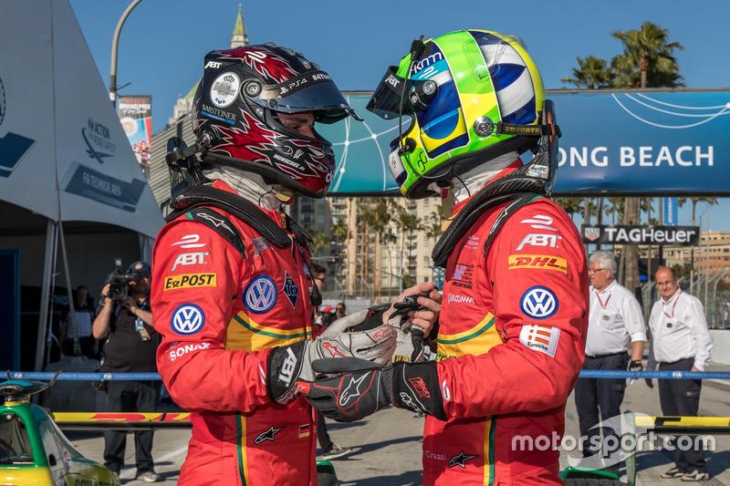 Yarış galibi Lucas di Grassi, ABT Schaeffler Audi Sport ve Daniel Abt, ABT Schaeffler Audi Sport