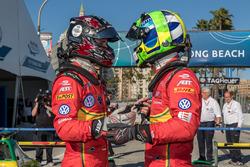 1. Lucas di Grassi, ABT Schaeffler Audi Sport; 3. Daniel Abt, ABT Schaeffler Audi Sport
