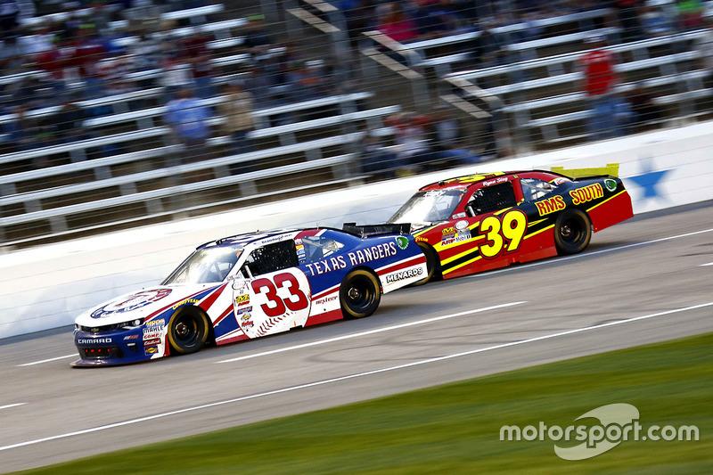 Brandon Jones, Richard Childress Racing Chevrolet; Ryan Sieg, RSS Racing Chevrolet