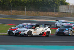 Kevin Gleason, Honda Civic TCR, West Coast Racing e Sergey Afanasyev, SEAT León, Team Craft-Bamboo L