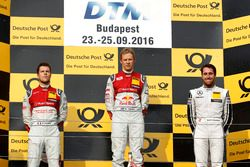 Podium: Race winner Mattias Ekström, Audi Sport Team Abt Sportsline, Audi A5 DTM; second place Adrie