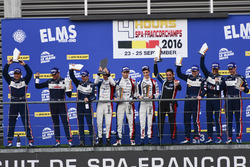 Podium LMP3: vainqueur #9 Graff Racing Ligier JS P3 - Nissan: Eric Trouillet, Paul Petit, Enzo Guibbert; deuxième place #2 United Autosports Ligier JSP3 - Nissan: Alex Brundle, Mike Guasch, Christian England; troisième place #3 United Autosports Ligier JSP3 - Nissan: Matt Bell, Mark Patterson, Wayne Boyd