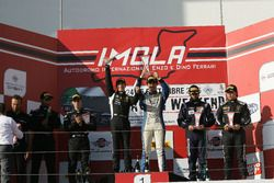 Podio Gara 1 S.GTCup: al secondo posto D'amico-Zaugg, Raton Racing, i vincitori Nemoto-Costa, Vincen