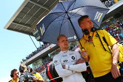 Kevin Magnussen, Renault Sport F1 Team sur la grille