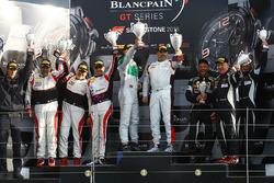 Podium Am Cup: winners #84 HTP Motorsport, Mercedes-AMG GT3: Maximilian Buhk, Dominik Baumann, Jazem