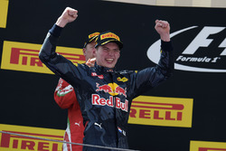 Max Verstappen, Red Bull Racing fête sa première victoire