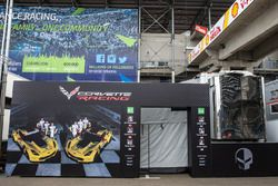 Corvette Racing paddock