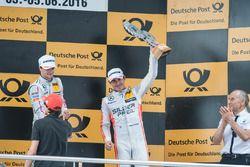 podium, Robert Wickens (CAN) Mercedes-AMG Team HWA, Mercedes-AMG C63 DTM