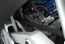 Computerdesign van STORM Wave, elektrische tourmotorfiets