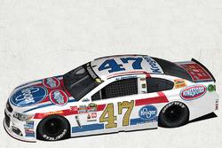 A.J. Allmendinger, JTG Daugherty Racing Chevrolet special throwback scheme