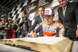 Marc Marquez, Repsol Honda Team signs the golden book of Graz at the MotoGP Parade