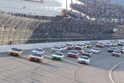 Start: Daniel Suarez, Joe Gibbs Racing Toyota, Erik Jones, Joe Gibbs Racing Toyota lead