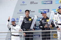 Podium: tweede #29 AMG-Team HTP Motorsport, Mercedes-AMG GT3: Christian Vietoris, Marco Seefried, C