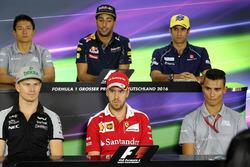 Conférence de presse de la FIA : Rio Haryanto, Manor Racing, Daniel Ricciardo, Red Bull Racing, Felipe Nasr, Sauber, Nico Hulkenberg, Sahara Force India F1, Sebastian Vettel, Ferrari, Pascal Wehrlein, Manor Racing