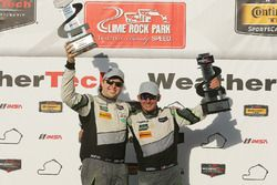 GTD podium: winners #44 Magnus Racing Audi R8 LMS: John Potter, Andy Lally