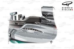 Les sorties supérieures de la Mercedes W07, GP de Hongrie